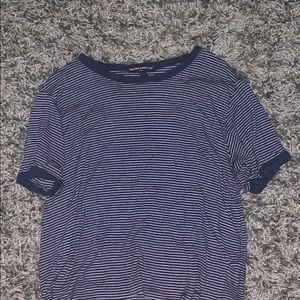 Brandy Melville blue and white striped top